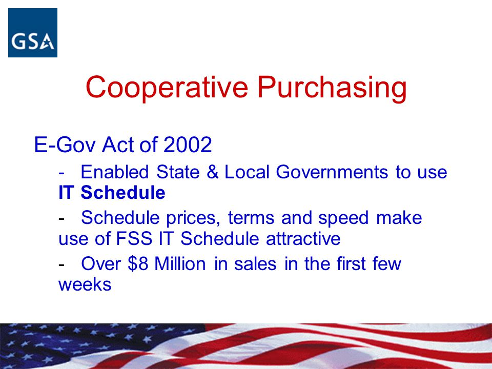 Cooperative Purchasing
