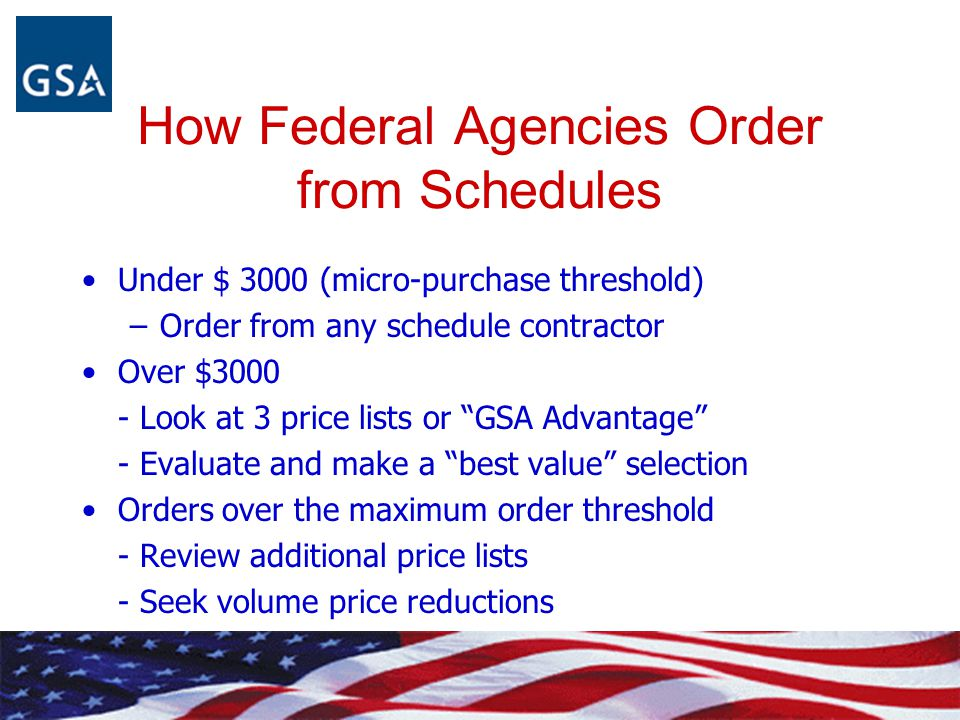 How Federal Agencies Order from Schedules