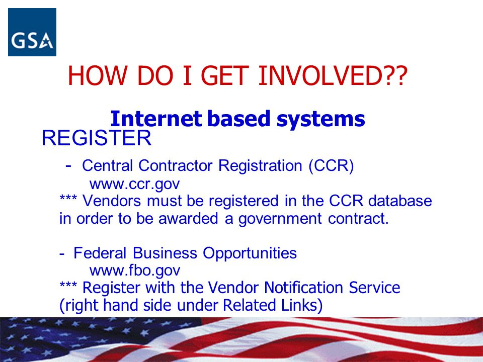HOW DO I GET INVOLVED Internet based systems