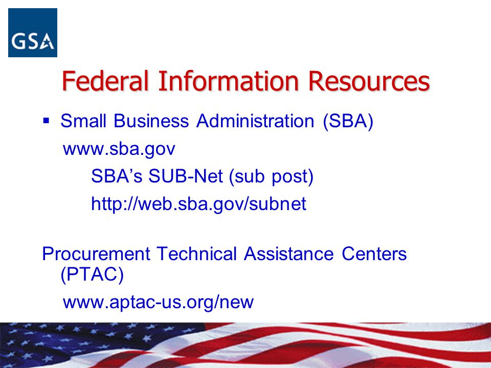 Federal Information Resources