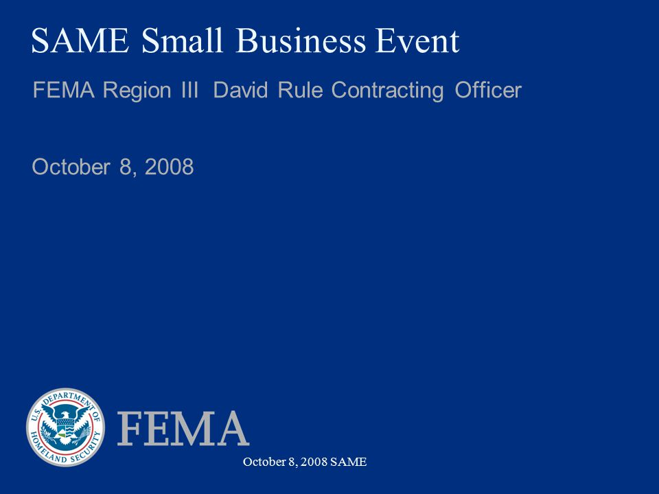SAME Small Business Event
