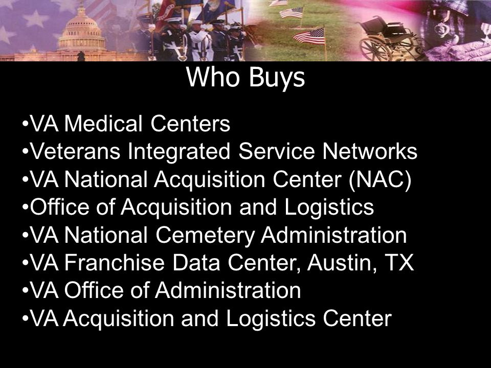 Who Buys VA Medical Centers Veterans Integrated Service Networks