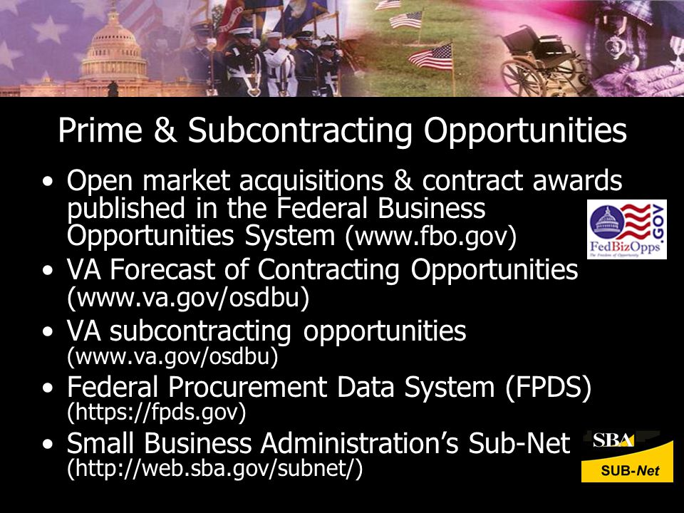 Prime & Subcontracting Opportunities