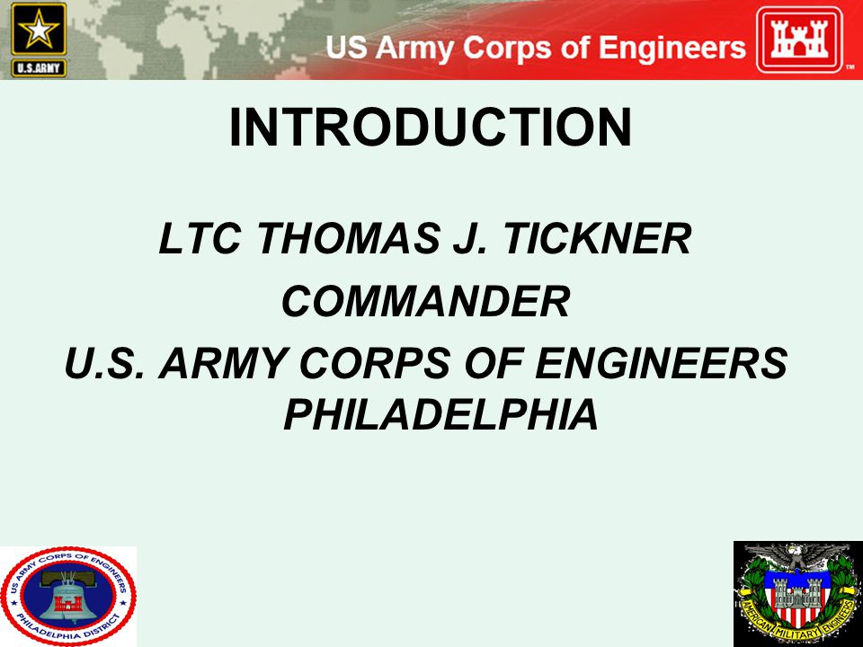 U.S. ARMY CORPS OF ENGINEERS PHILADELPHIA