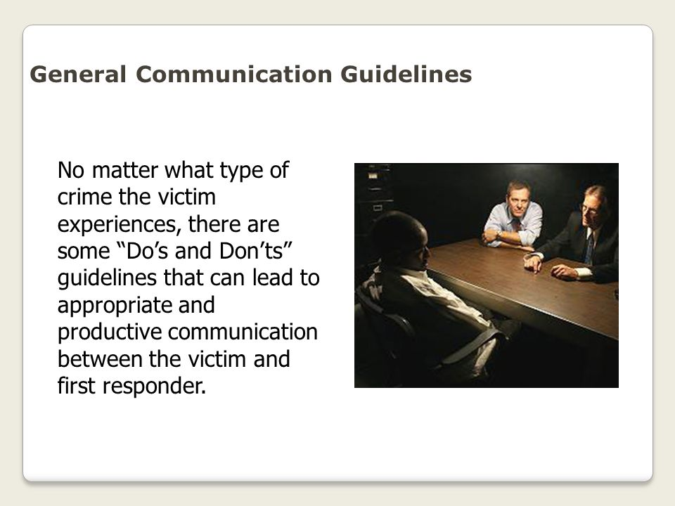 General Communication Guidelines