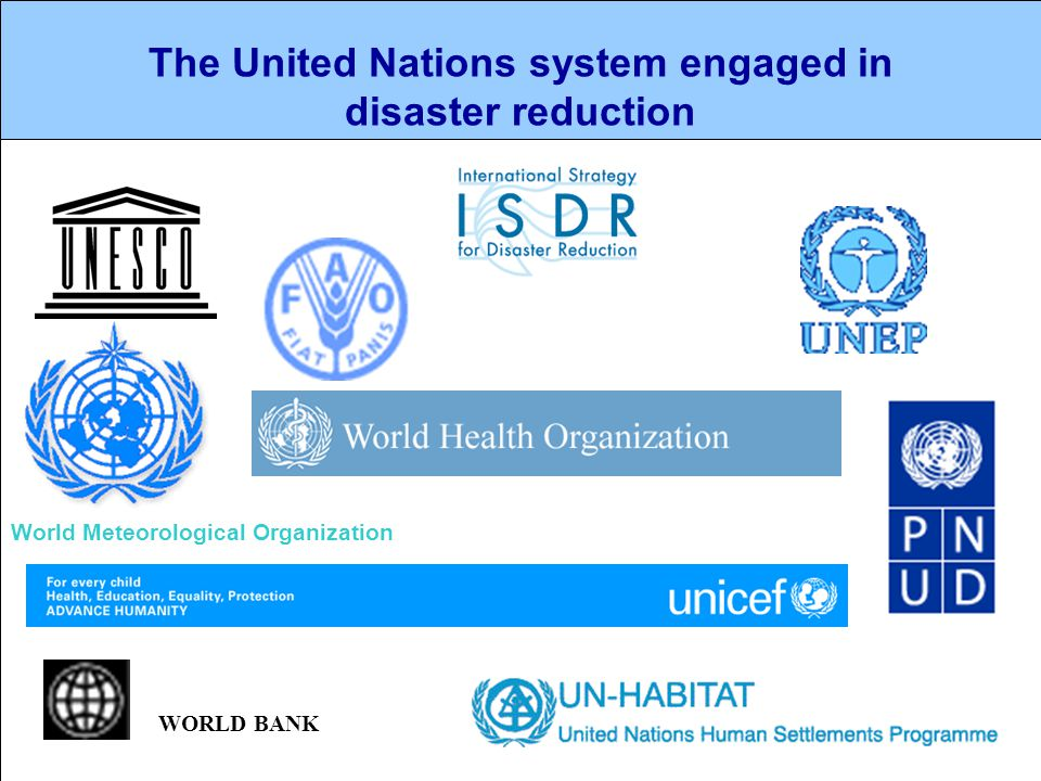 The United Nations system engaged in disaster reduction