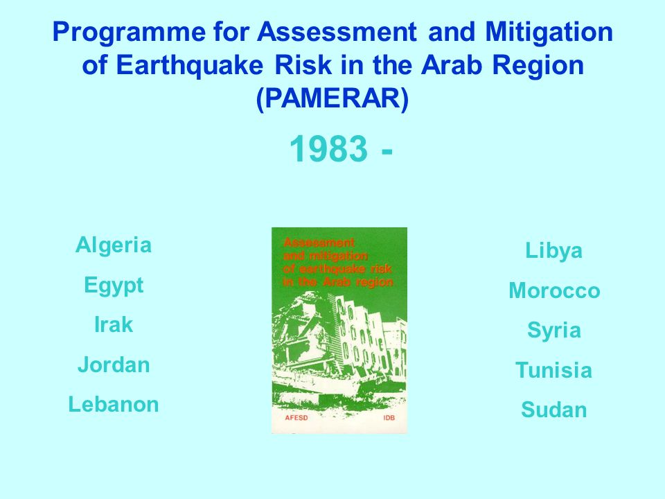 Programme for Assessment and Mitigation of Earthquake Risk in the Arab Region