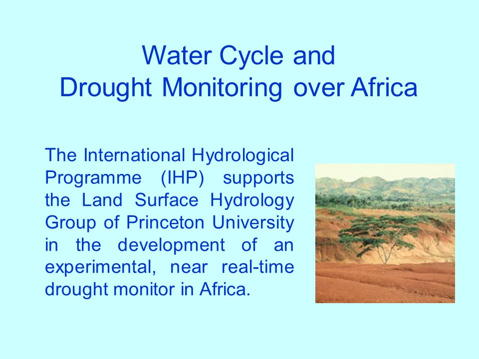 Drought Monitoring over Africa