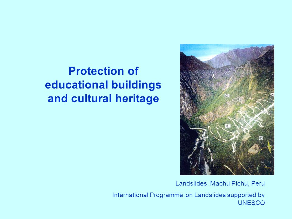 Protection of educational buildings and cultural heritage
