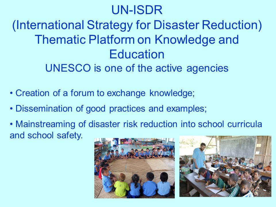 UNESCO is one of the active agencies