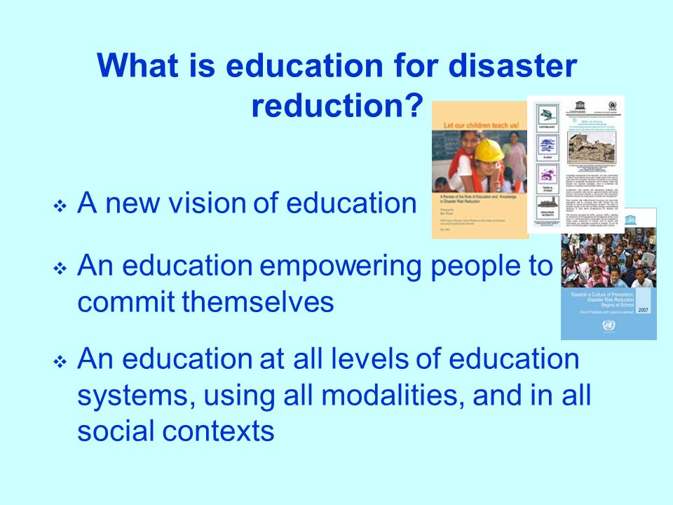 What is education for disaster reduction