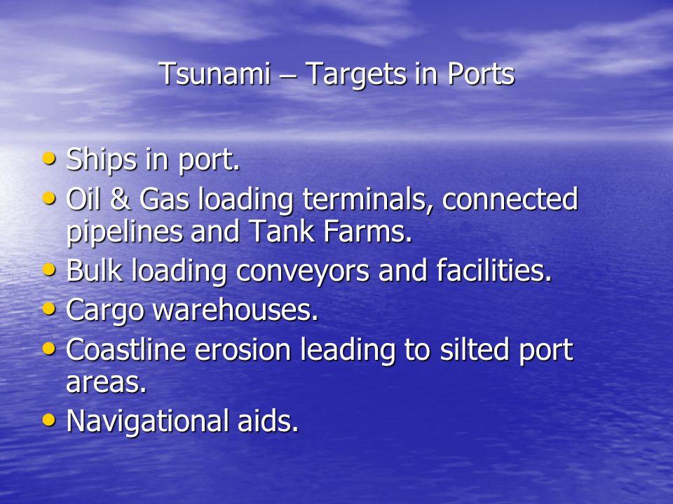 Tsunami – Targets in Ports