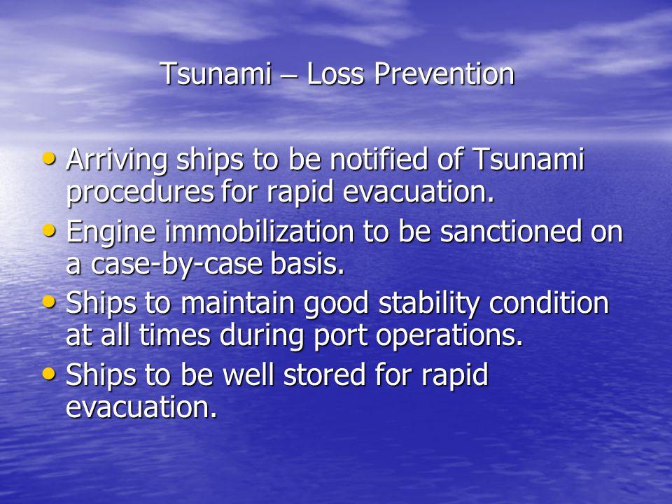 Tsunami – Loss Prevention