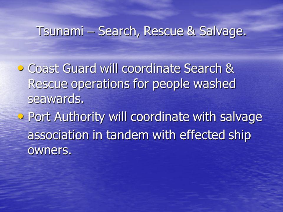 Tsunami – Search, Rescue & Salvage.