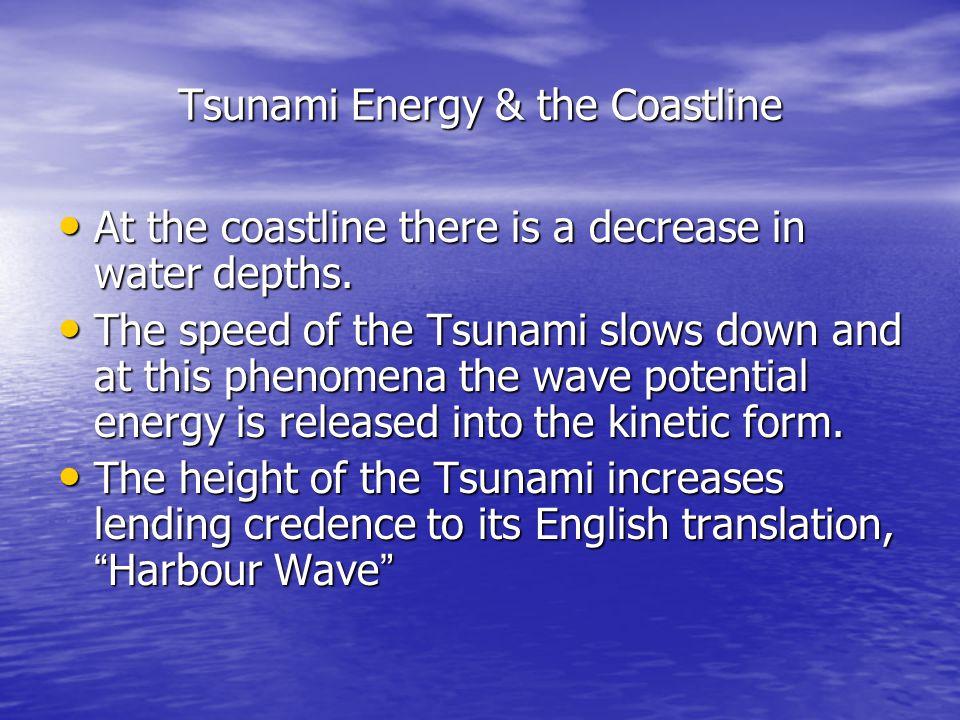 Tsunami Energy & the Coastline