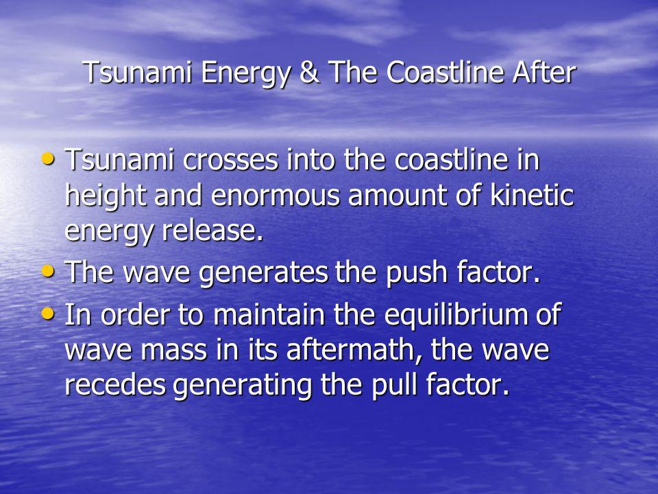 Tsunami Energy & The Coastline After