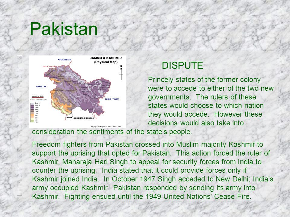 Pakistan DISPUTE.