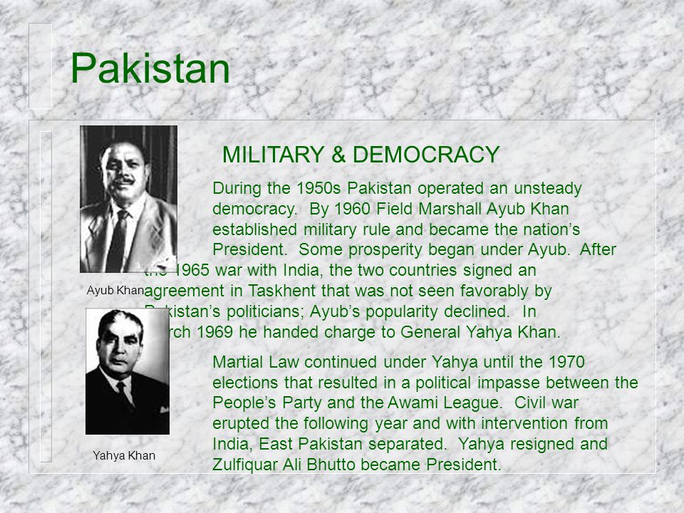 Pakistan MILITARY & DEMOCRACY