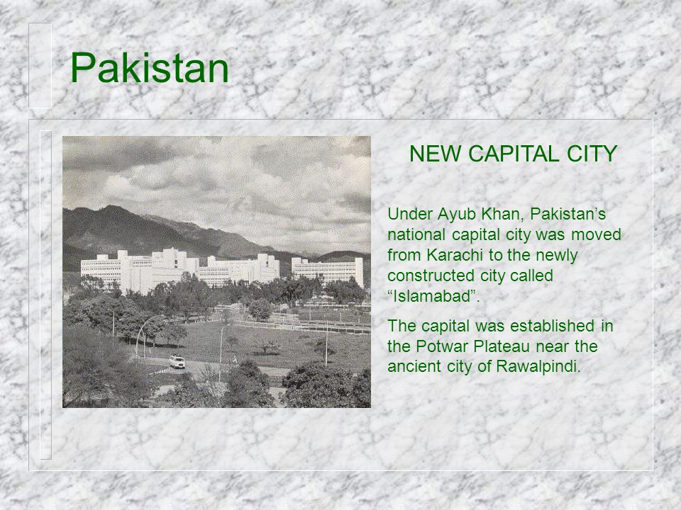 Pakistan NEW CAPITAL CITY