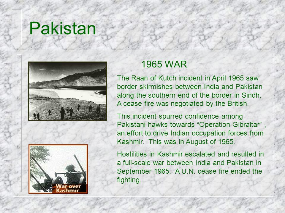 Pakistan 1965 WAR.