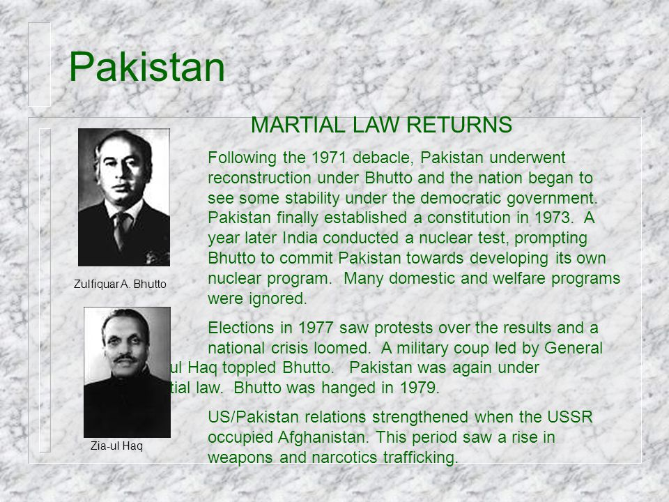 Pakistan MARTIAL LAW RETURNS