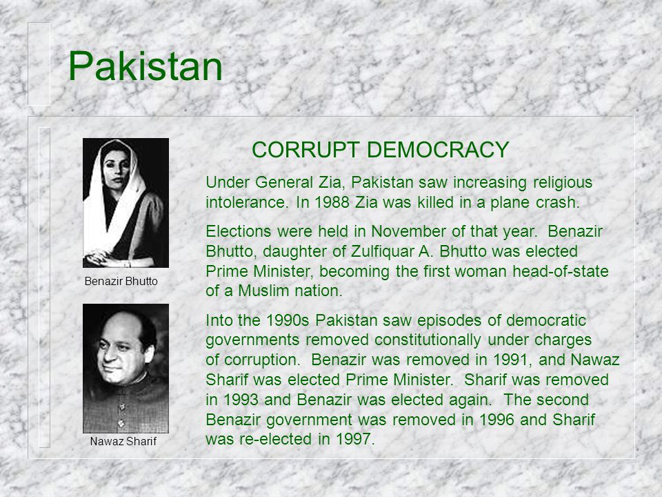 Pakistan CORRUPT DEMOCRACY