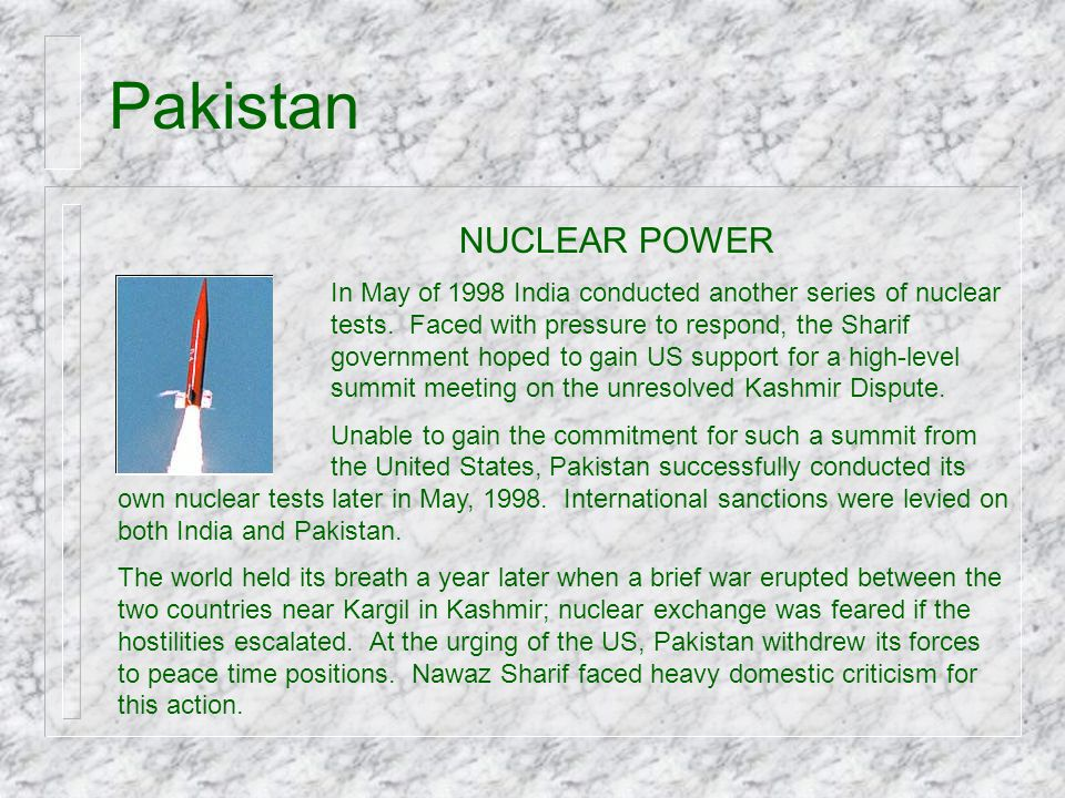 Pakistan NUCLEAR POWER