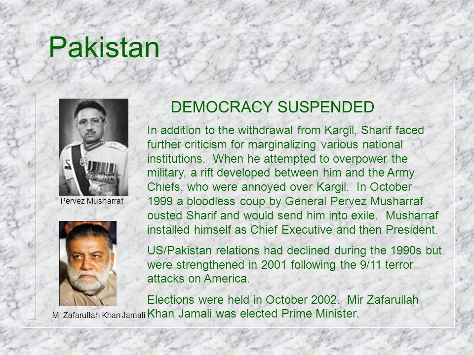 Pakistan DEMOCRACY SUSPENDED