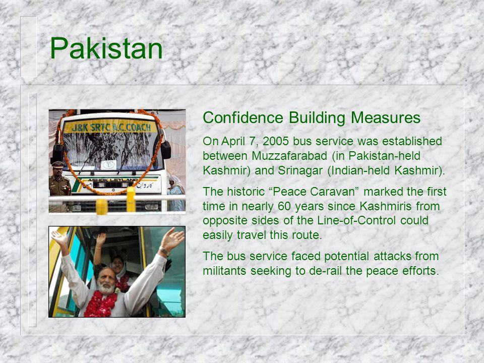 Pakistan Confidence Building Measures