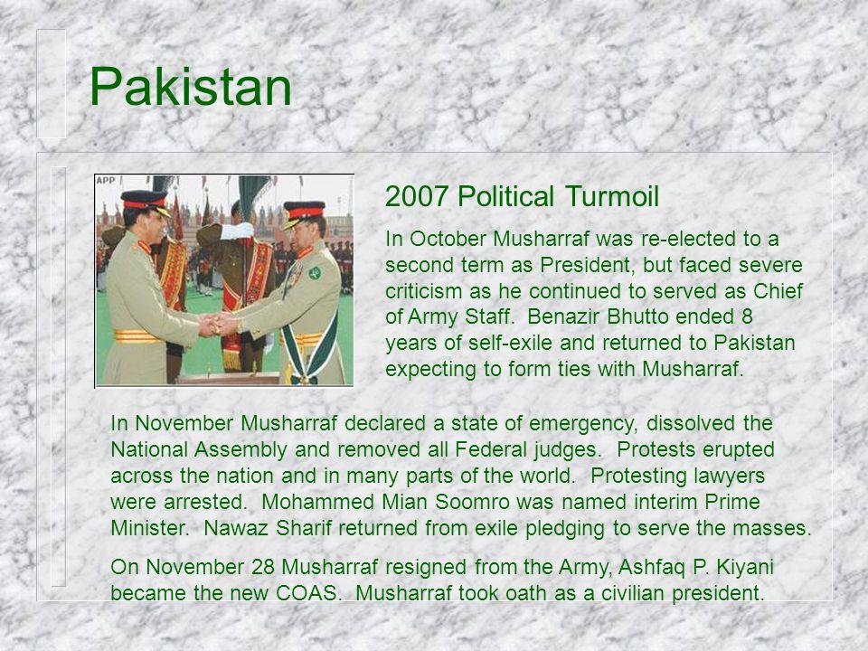 Pakistan 2007 Political Turmoil