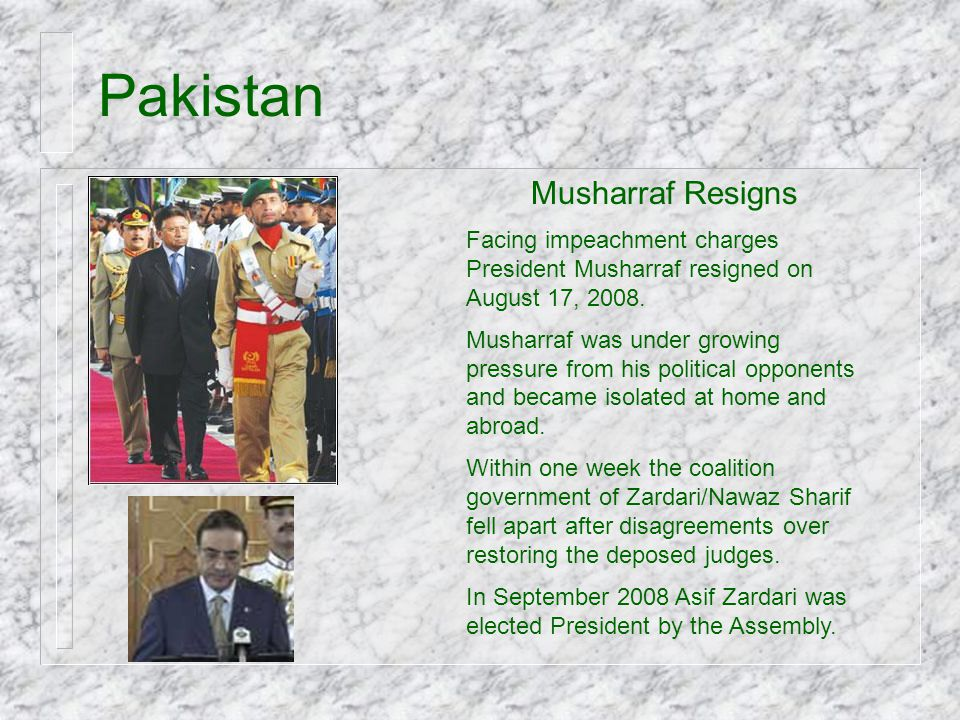 Pakistan Musharraf Resigns