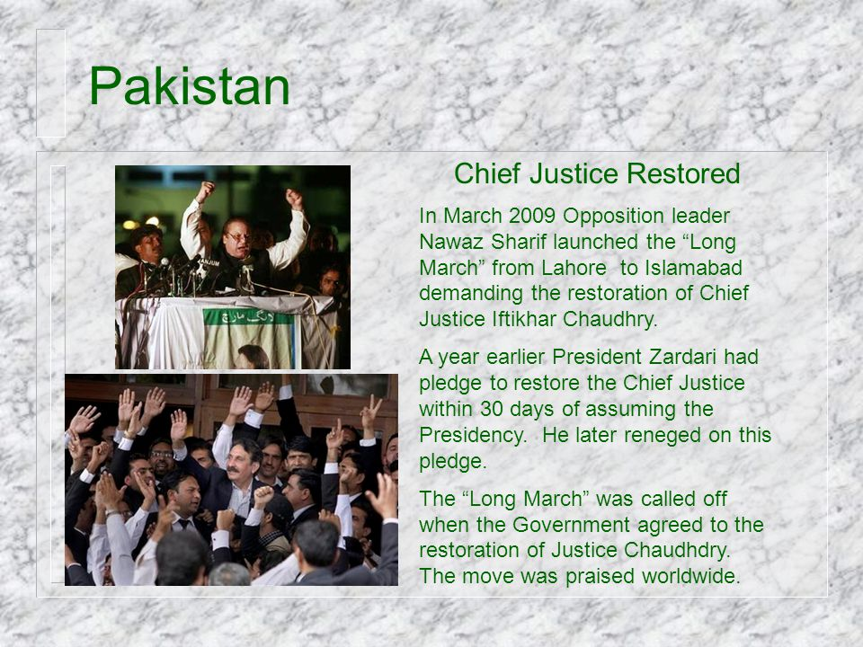 Chief Justice Restored