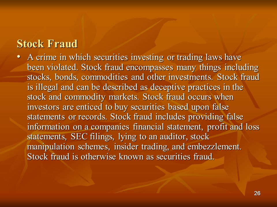 Stock Fraud
