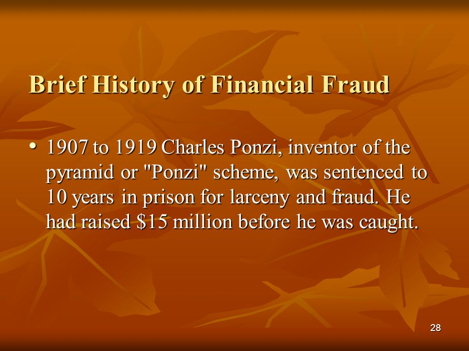 Brief History of Financial Fraud