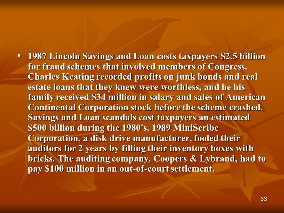1987 Lincoln Savings and Loan costs taxpayers $2