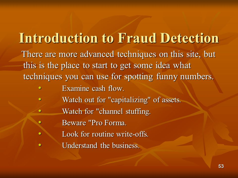 Introduction to Fraud Detection