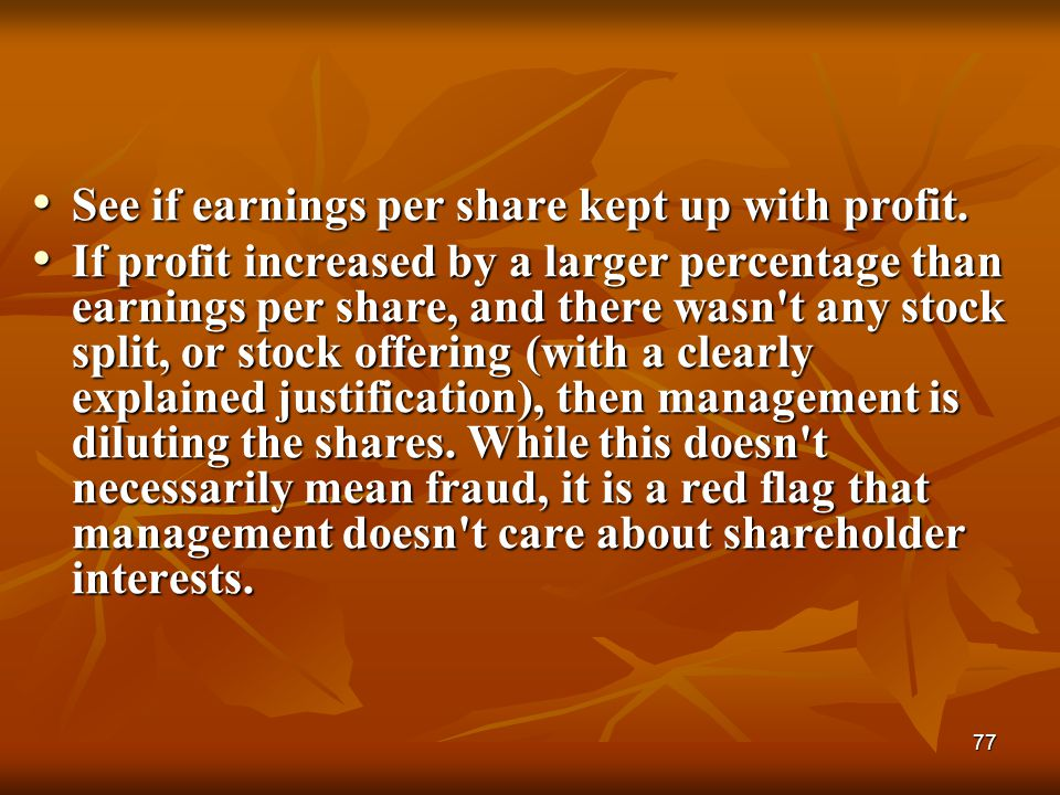 See if earnings per share kept up with profit.