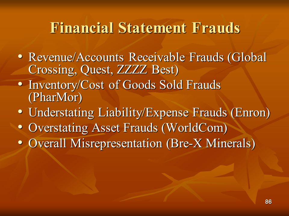 Financial Statement Frauds