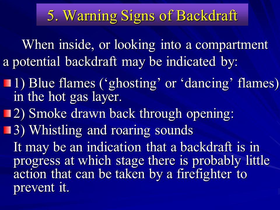 5. Warning Signs of Backdraft