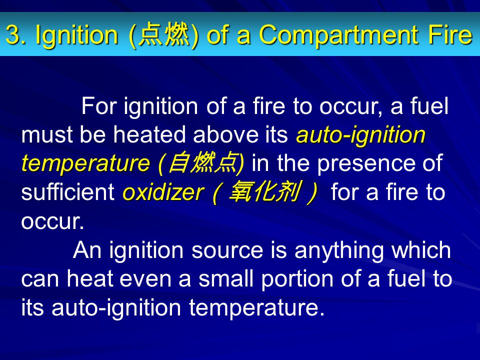 3. Ignition (点燃) of a Compartment Fire