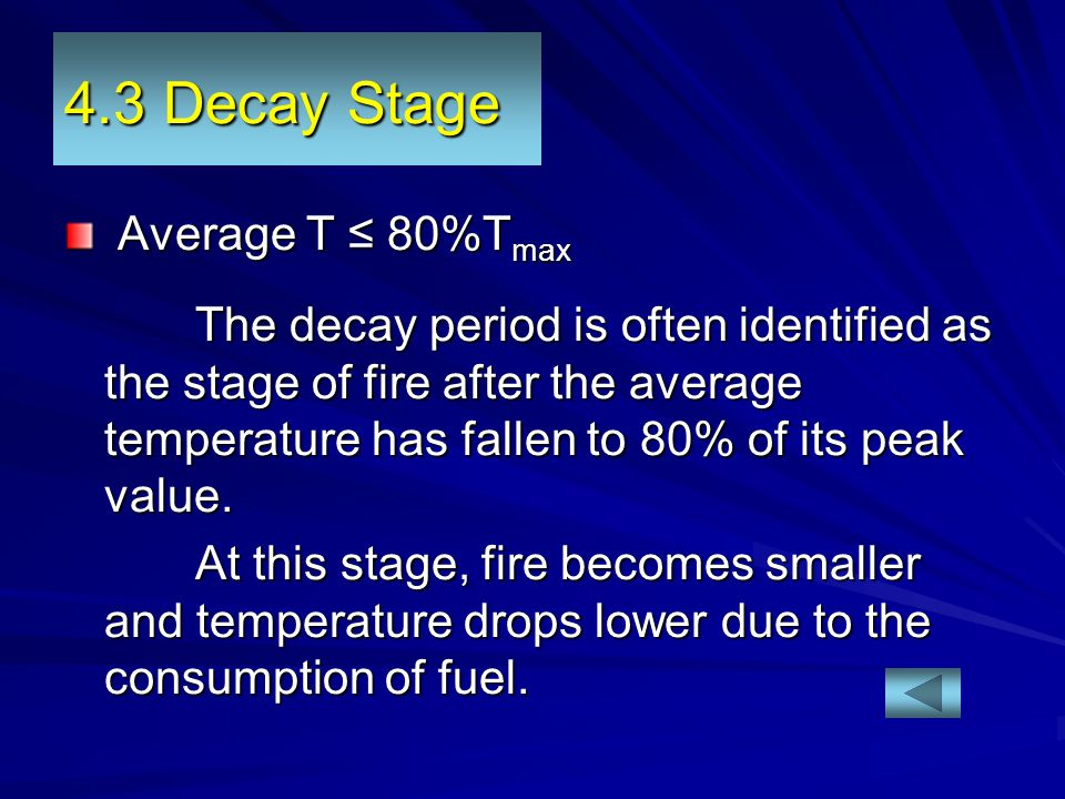 4.3 Decay Stage Average T ≤ 80%Tmax