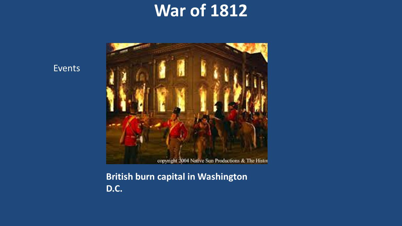 British burn capital in Washington D.C.