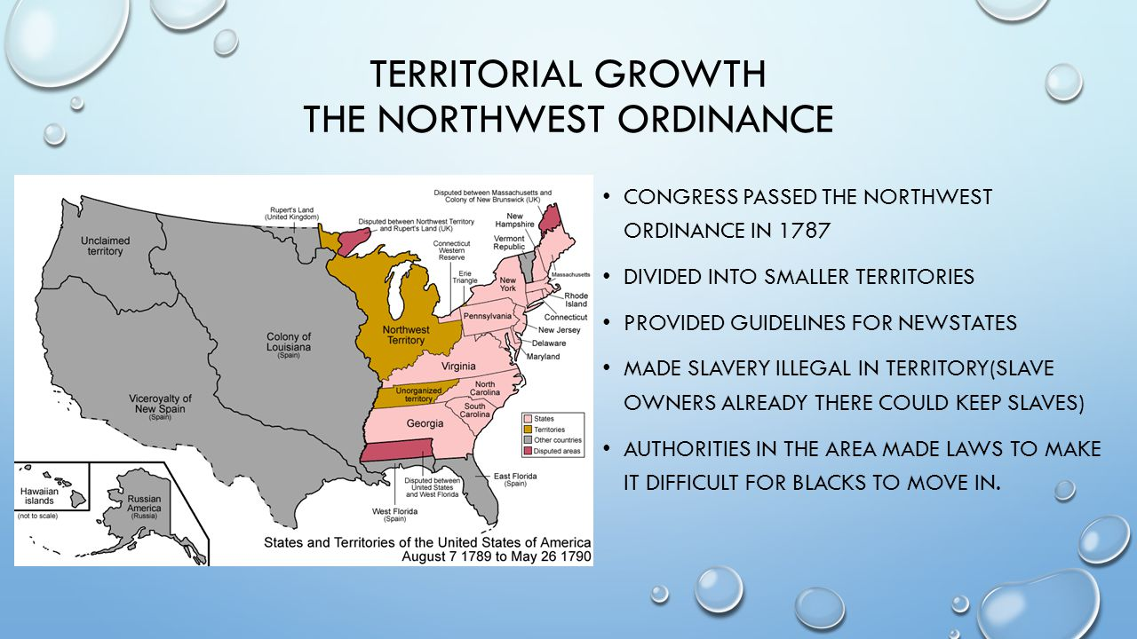 Territorial growth the northwest ordinance
