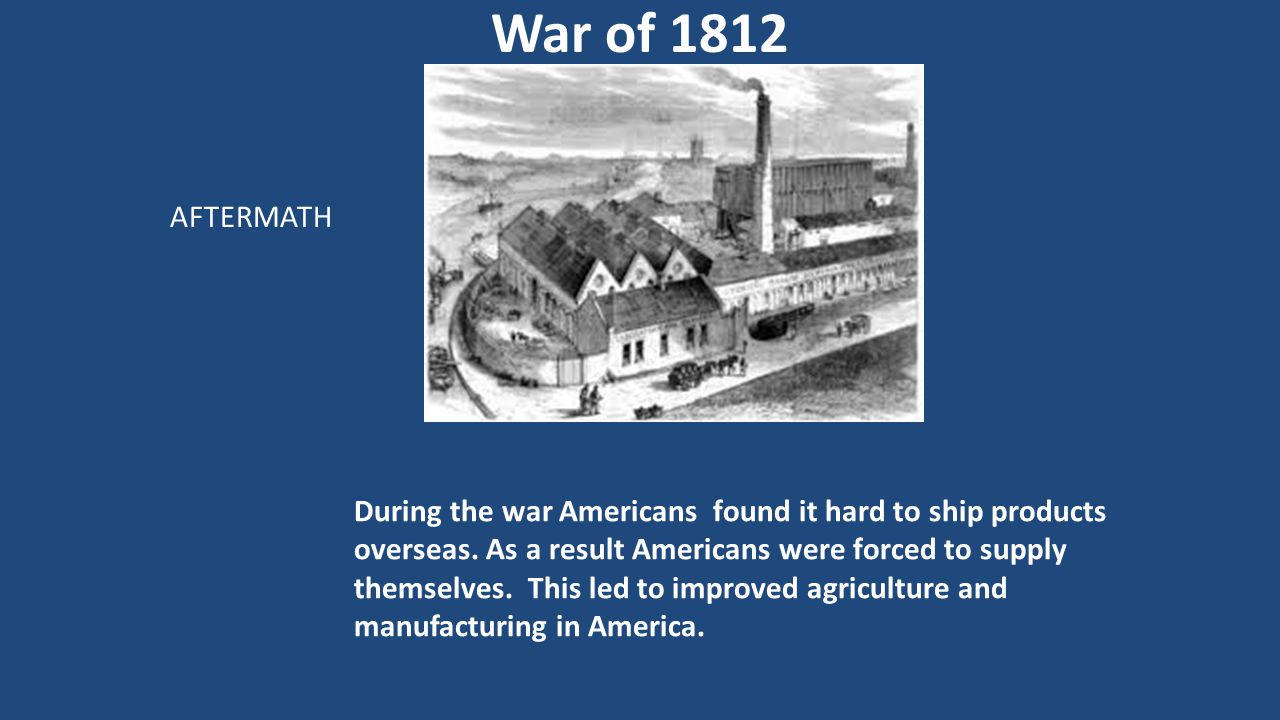 War of 1812 AFTERMATH.