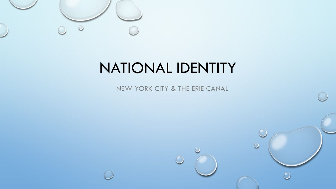 New York city & the Erie canal