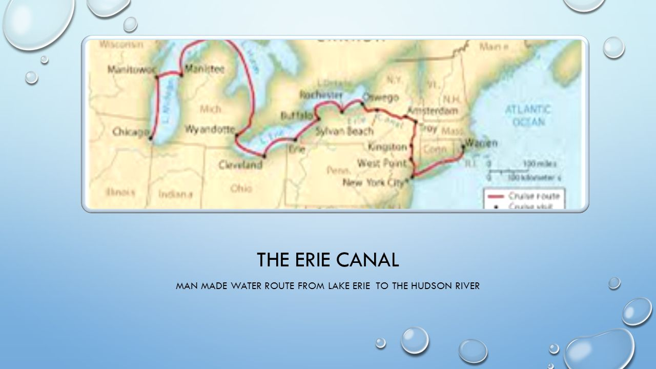 Man made water route from Lake Erie to the Hudson River