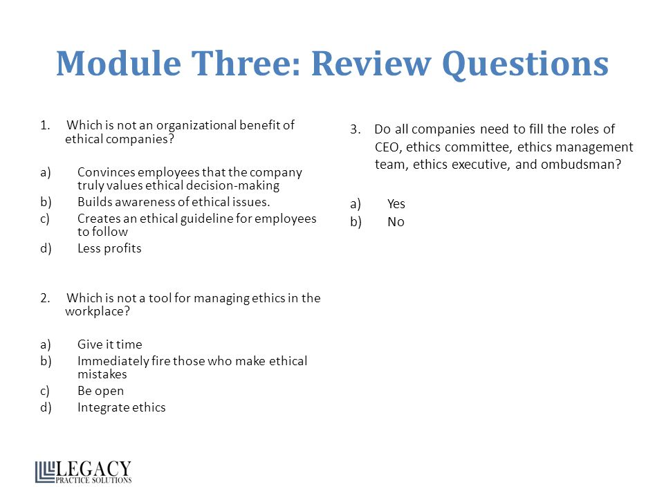 Module Three: Review Questions