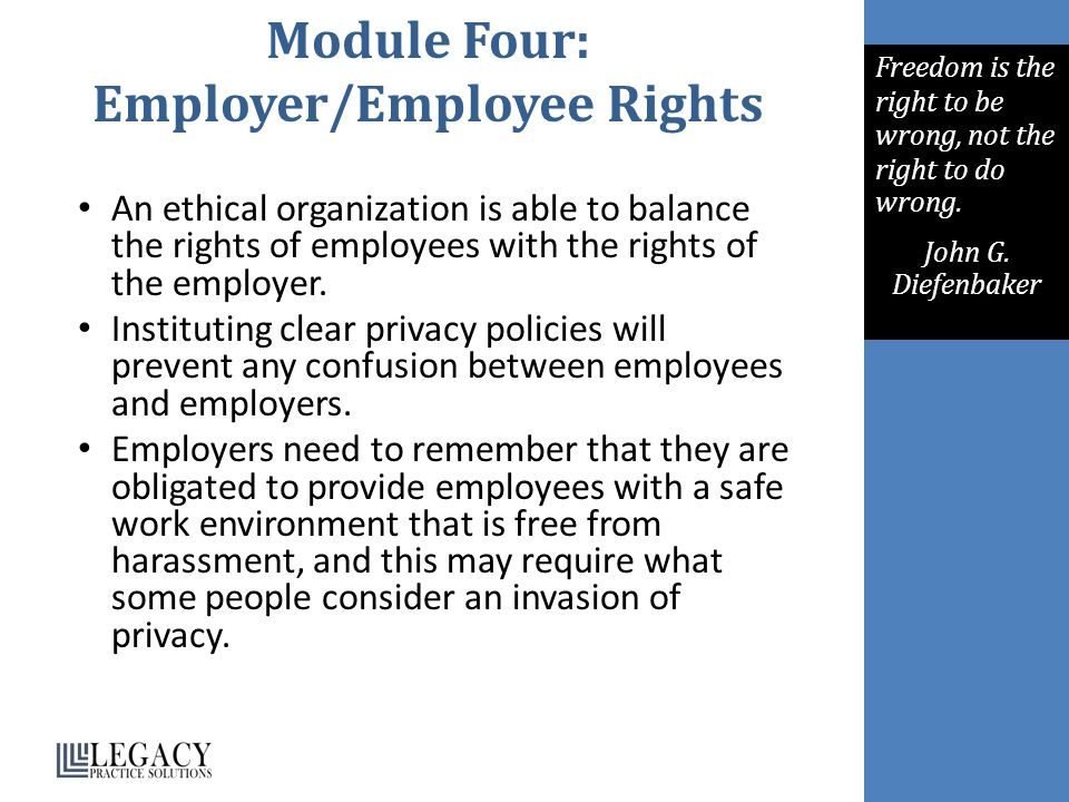 Module Four: Employer/Employee Rights