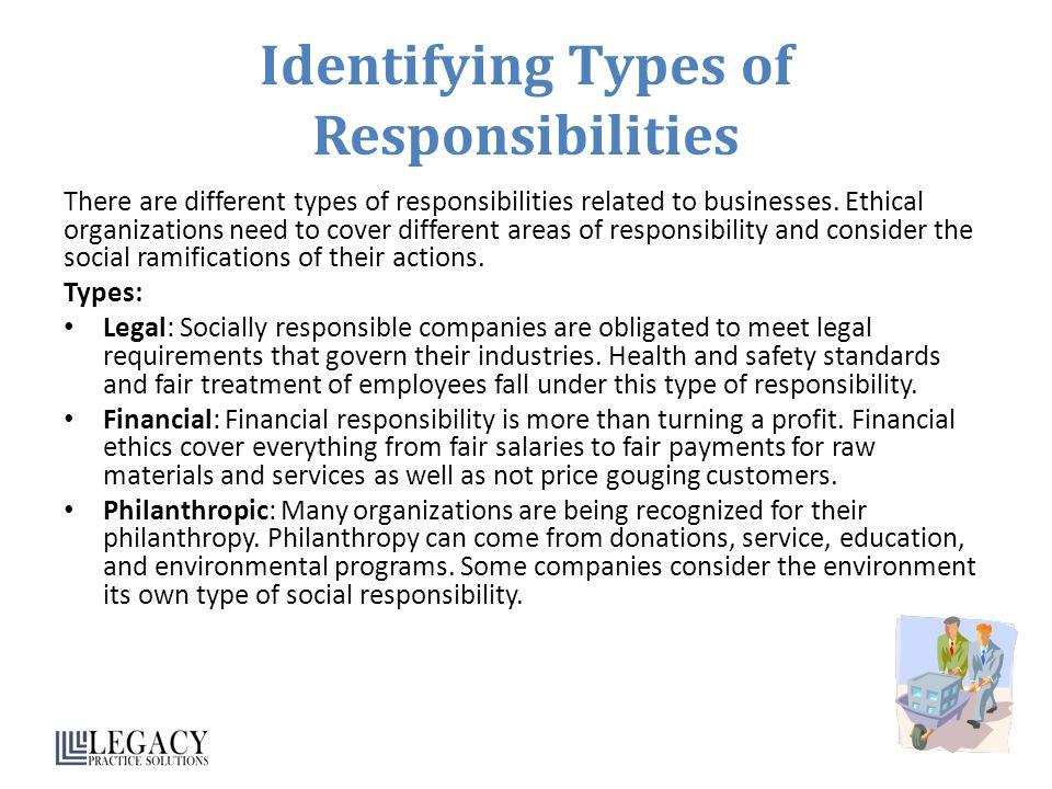 Identifying Types of Responsibilities