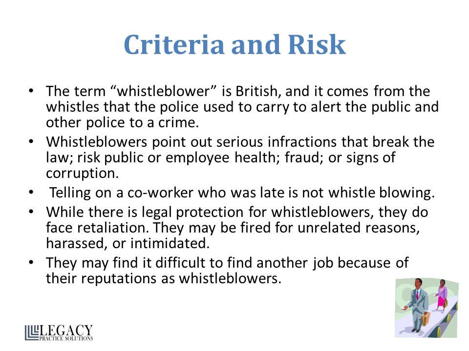 Criteria and Risk
